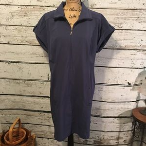 Peck & Peck Weekends Navy Dress Size Large